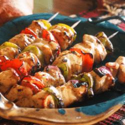 Grilled Chicken Vegetable Kabobs