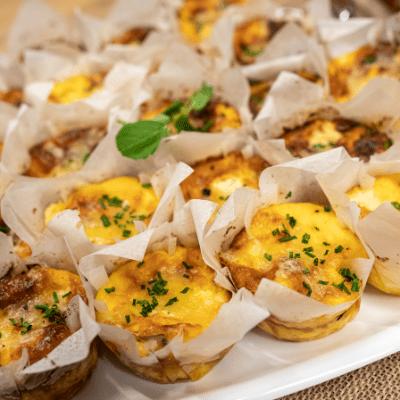 Mini muschroom & sausage quiches