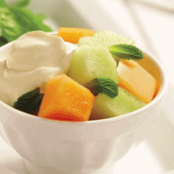 Minty Melon with Ginger Yogurt
