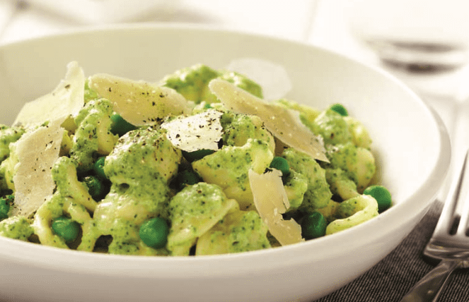 Orechiette with Creamy Basil and Broccoli