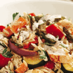 Roasted Chicken, Vegetable and Risoni Salad