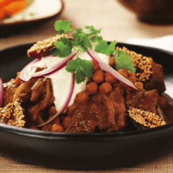 Saffron Lamb, Yogurt and Date Tagine