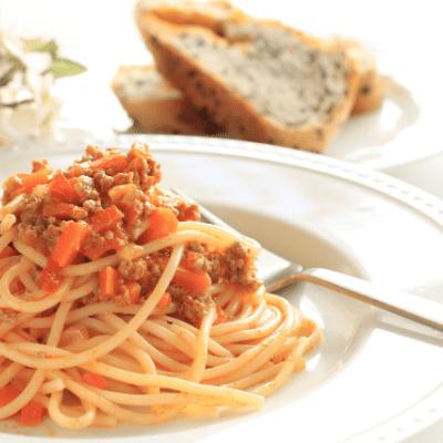 Spaghetti with Turkey Meat Sauce