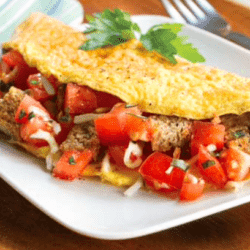 Tomato and Garlic Omelet