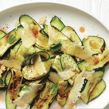 Zucchini with mint and parmesan